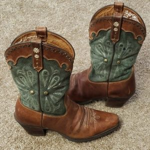 Ariat Green Daisy Leather Boots 97750